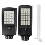 300/500W LED Solar Powered Wall Street Lights Outdoor Garden Lamp+Remote Control