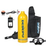 DEDEPU 1L Mini Scuba Diving Tank Set Oxygen Cylinder Air Tank With Snorkeling Glasses Underwater Scuba Diving Equipment