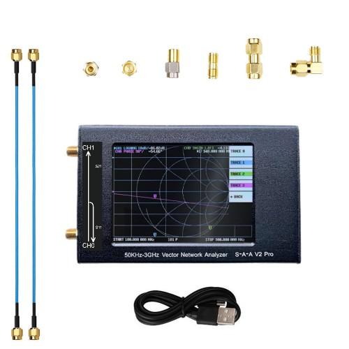 LZ3G S-A-A V2 Pro Vector Network Analyzer 3.2 Inch Digital Nano VNA Tester MF HF VHF UHF USB Logic Antenna Analyzer Standing Wave