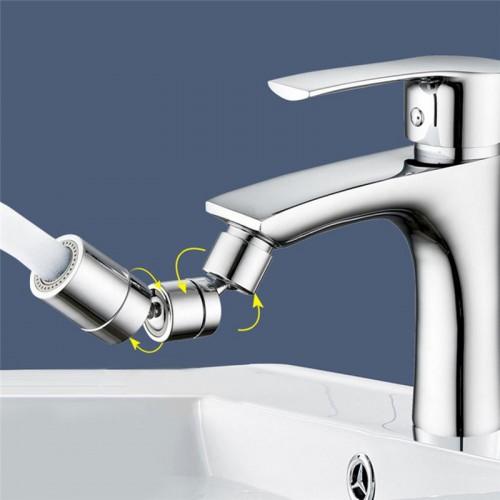 Universal Faucet Areator 1080 Degree Swivel Extender Splash Filter Bubbler Rotating Mesh Mouth Anti Splash Head Dual Mode Faucet Extender Water Saving Device for Bathroom Kitchen