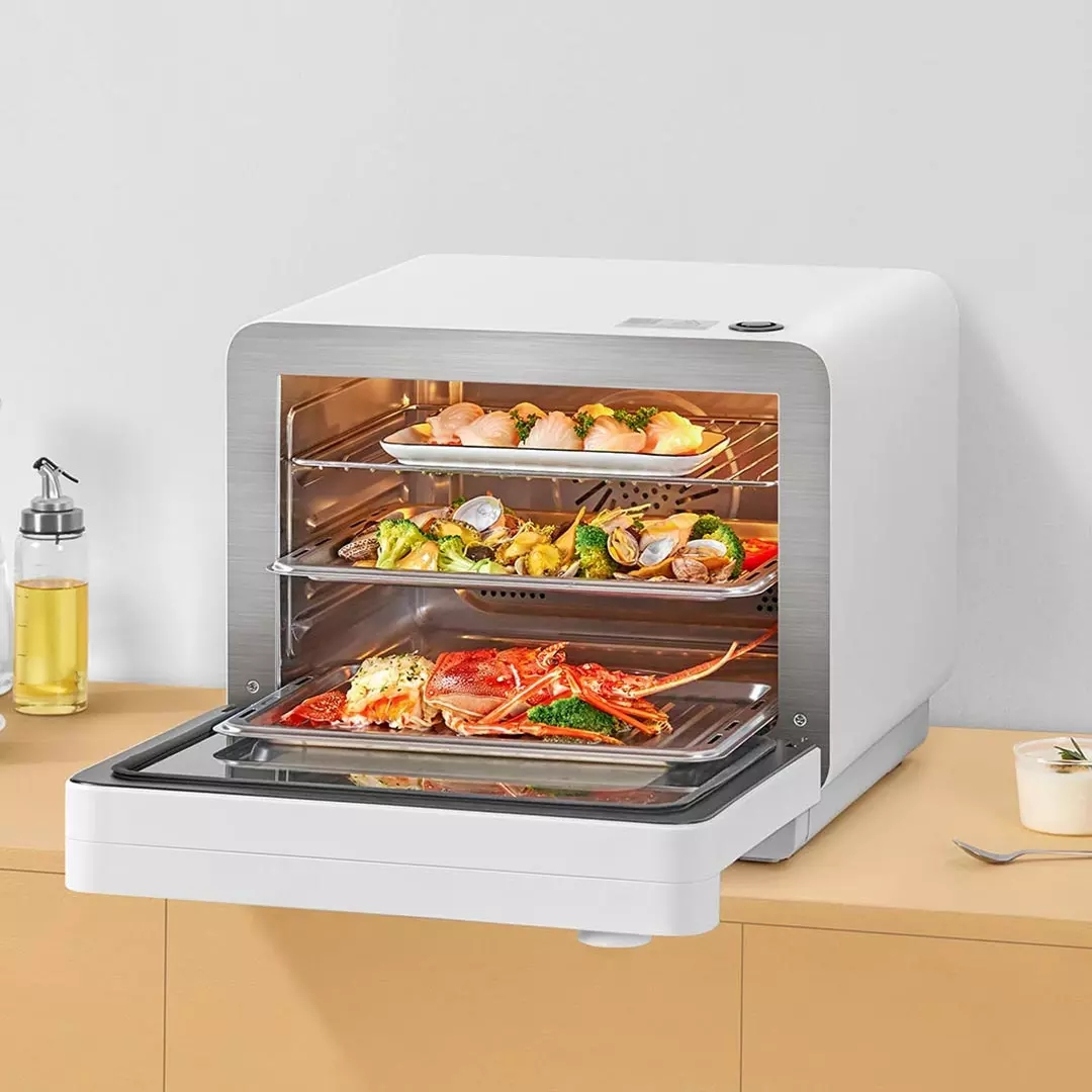 Xiaomi Mijia Smart Oven 220V 1450W 30L Dual Remote Control with Water Purification Filter Multiple Cooking Modes for Kitchen