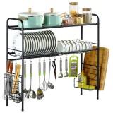 63/83cm Sink Storage Rack 1/2 Layers Kitchen Over Sink Dish Drying Drain Shelf Dish Chopsticks Storage Holder Organizer
