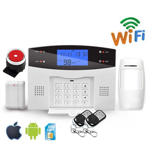EARKONG Wifi GSM PSTN Alarm System Wireless Detectors APP Remote Control Two-way Intercom Voice Alarm System For Smart Home