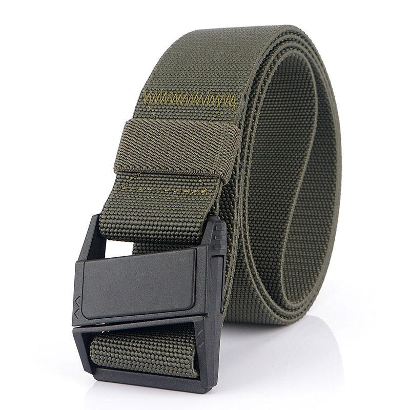 AWMN Nylon 125x3.8cm Tactical Belt Magnetic Buckle Heavy-Duty Quick-Release Belt