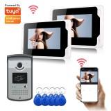 Ennio 701MEID12 Tuya APP Remote Unlock Visual Intercom 7 Inch 1080P Monitor Wifi Video Doorbell Door Lock Intercom System Doorbell