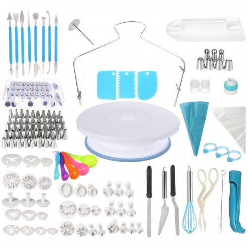 220Pcs Decorating Nozzle Set Cake Tools Cake Decoration Kitchen DIY Icing Piping Cream Reusable Kit Baking Tools Cake Tools Set