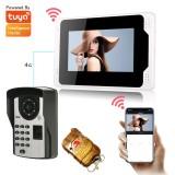 ENNIO 701FD11 7Inch FingerPrint PassLock Wired / Wireless Wifi RFID Password Video Door Phone Doorbell Intercom Entry System with 1080P Wired Camera Night Vision