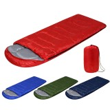 210x75cm 1600G All Season Waterproof Ultralight Compact Hiking Camping Single Sleeping Bag with Carry Bag Solid Colors Lightweight Sleeping Bag
