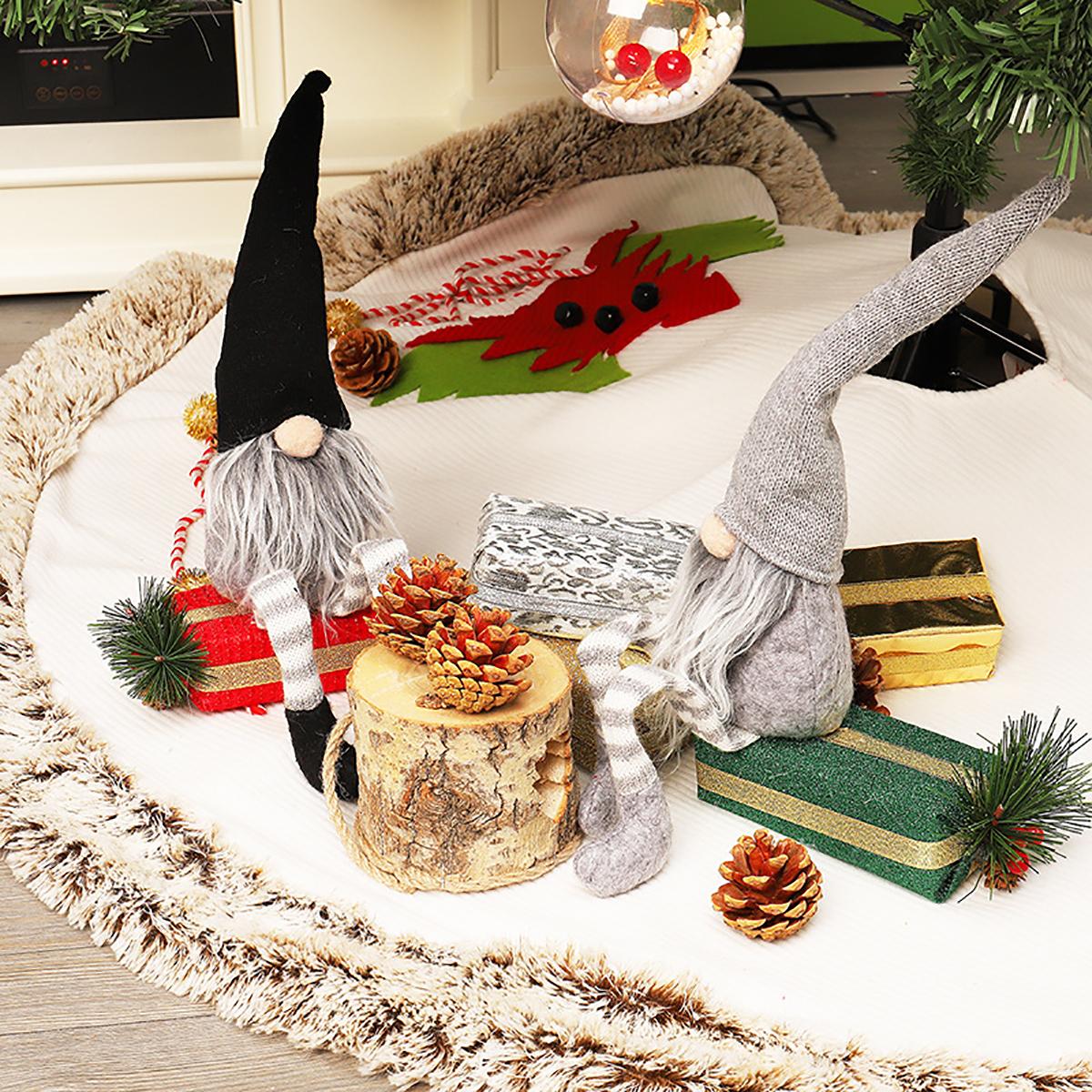 Christmas Doll Ornaments Christmas Elf Decorations 48cm Santa Claus No Faced Dolls Home Decorations
