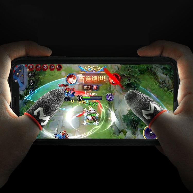 MEMO 1 Pair Sensitive Sweatproof E-Sports Touch Screen Thumbs Finger Sleeve for PUBG Mobile Game