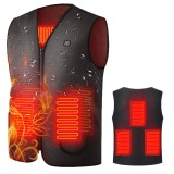 5-Area Heating Smart Infrared Electric Heated Vest Charging Self-Heating Clothes Winter Sport Camping Hiking Outdoor Warm Jacket