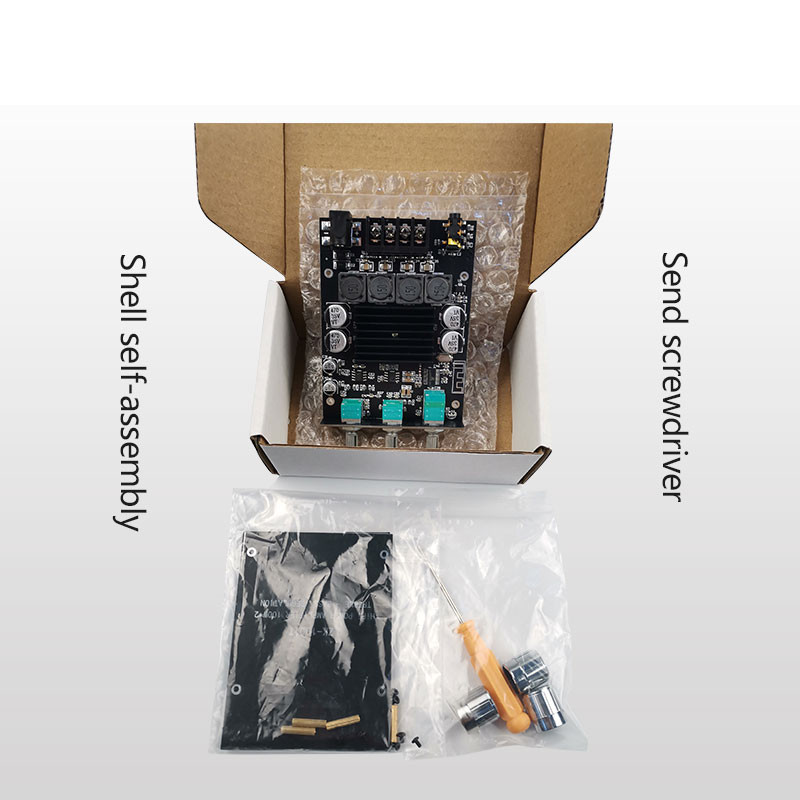 ZK-1002T 100W*2 High and Bass Adjustment bluetooth 5.0 Audio Power Amplifier Board Module Subwoofer Dual Channel Stereo