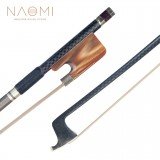 "NAOMI Advanced Carbon Fiber 16"" Viola Bow Grid Carbon Fiber Stick Natural Horsehair W/ Ox Horn Frog Durable Use"