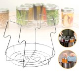 304 Stainless Steel Can Storage Organizer Can Storage Rack Round Draining Rack Canning Jar Lifting Tool Kit Canning Jar Tongs