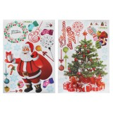 Christmas Stickers Wallpapers DIY Wall Decorative Decal Door Window Stickers Santa Claus Christmas Tree Wall Stickers