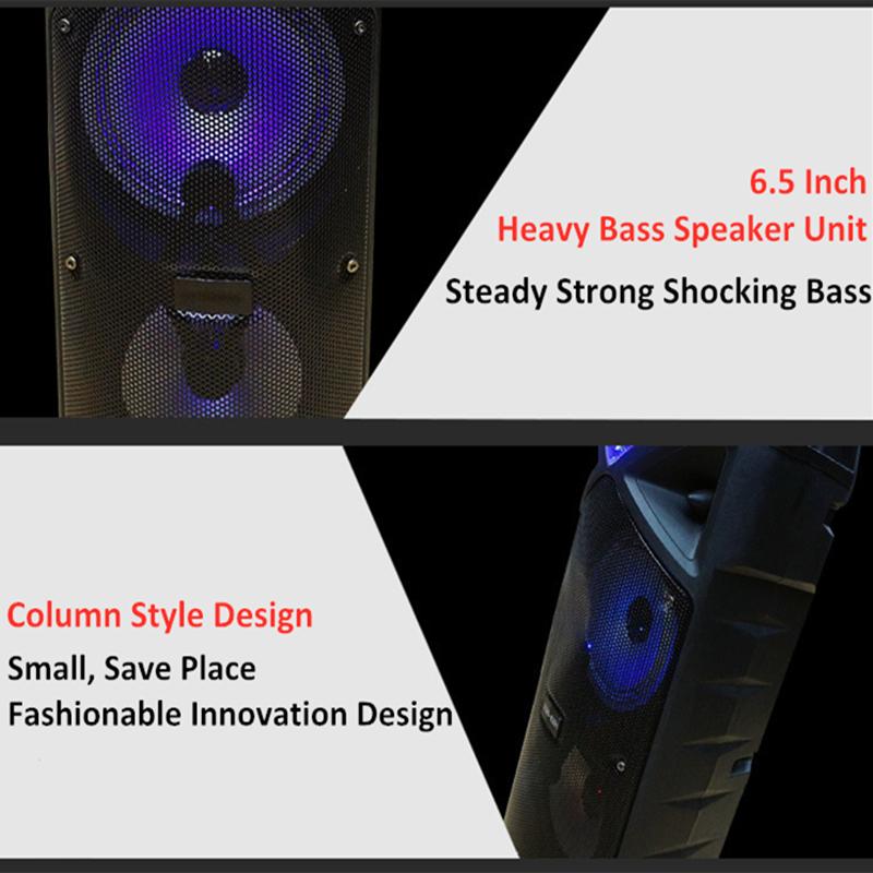 Bakeey 60cm Subwoofer 25W bluetooth Speaker Height bluetooth Subwoofer With Processor Party Speaker Outdoor Speaker Subwoofer Radio APP Card Speaker
