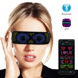 APP Contro LED Shinning Glasses USB Rechargeable Full Color Wireless Music Dynamic Patterns Unisex Glowing Luminous Glasses For Party Bars