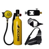 DIDEEP 1L Scuba Diving Tank Set Diving Oxygen Tank Air Respirator Scuba Adapter Diving Goggles with Storage Bag for Snorkeling Breath Diving Equipment