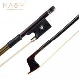 Naomi Brazilwood Violin Bow Straight Bow Sheepskin Grip White Mongolia Horsehair Bow Ebony Frog W/ Paris Eye Inlay