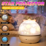 USB LED Star Projection Lamp Music Colorful Night Light Garden Birthday Christmas Gift