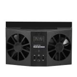 Solar Dual Fan Auto Car Window Windshield Auto Air Vent Outlet Ventilator Cooler