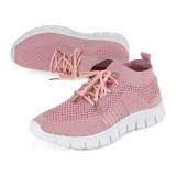 NIS Women Breathable Air Mesh Sneakers Lace Up Sock Shoes Sport Tennis Trainers