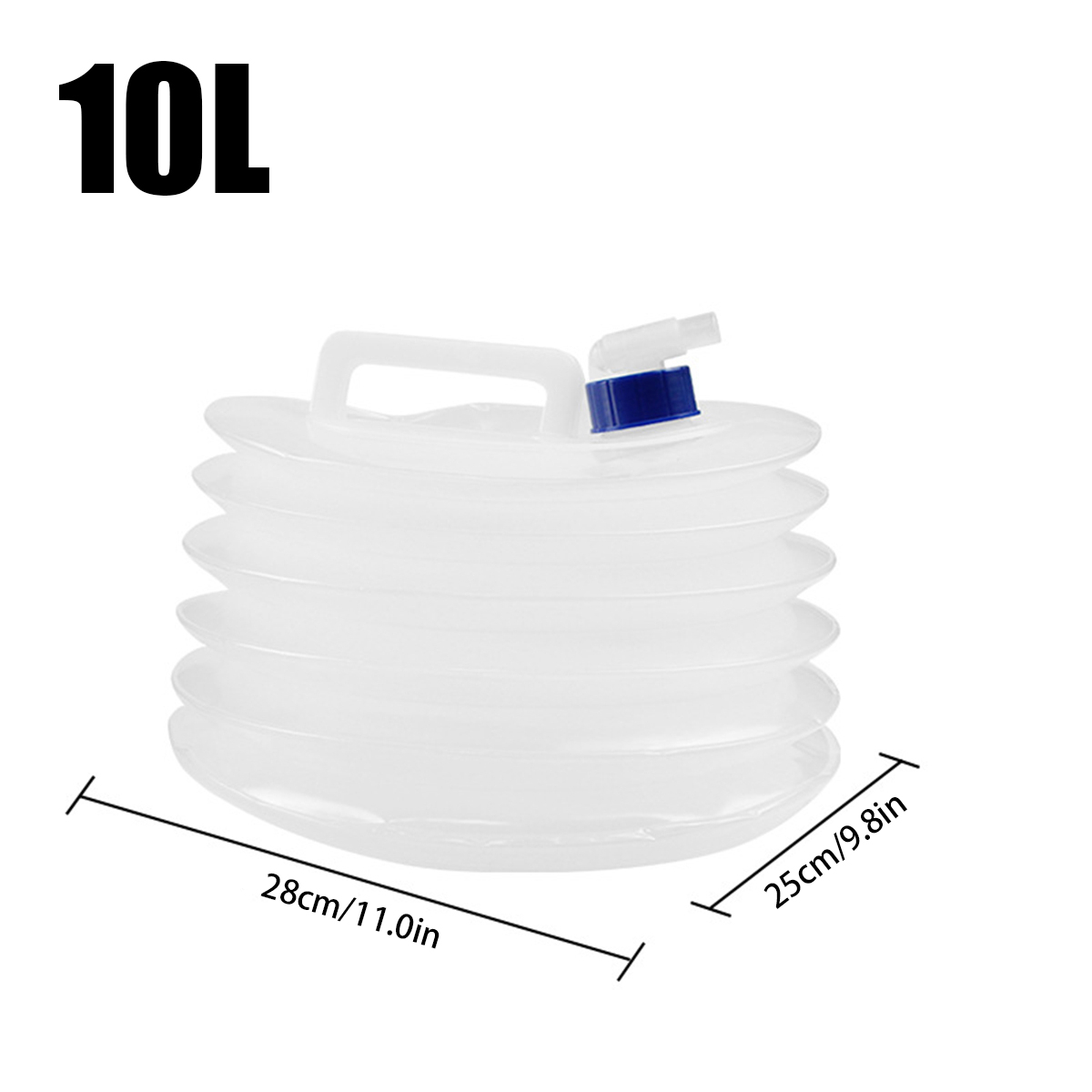 5/10/15L Foldable Water Container Food Grade PE Camping Water Bottle Multifunction Telescopic Storage Water Bag