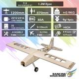 DW Dancing Wings Hobby T12 Balsawood 1200mm Wingspan Light Wood Electronic RC Airplane KIT/PNP