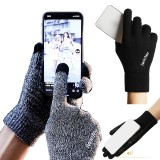 IWINTER Winter Men's Cycling Knitted Gloves Touch Screen Thicken Wool Mitten Outdoors Anti-slip Warmer Gloves