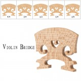 NAOMI 1PC Natural Dry Maple Wood Acoustic Violin Bridge Violin Parts W/ Different Size 4/4 3/4 1/2 1/4 1/8