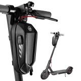 CoolChange Large Size EVA Hard Shell Electric Scooter Front Bag With USB Charging Port Waterproof Bike Handlebar Bag Road Bike Accessories