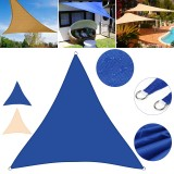 138/197inch Triangular Patio Awning Oxford Cloth UV-proof Sunshade Cover Multifunction Camping Picnic Mat