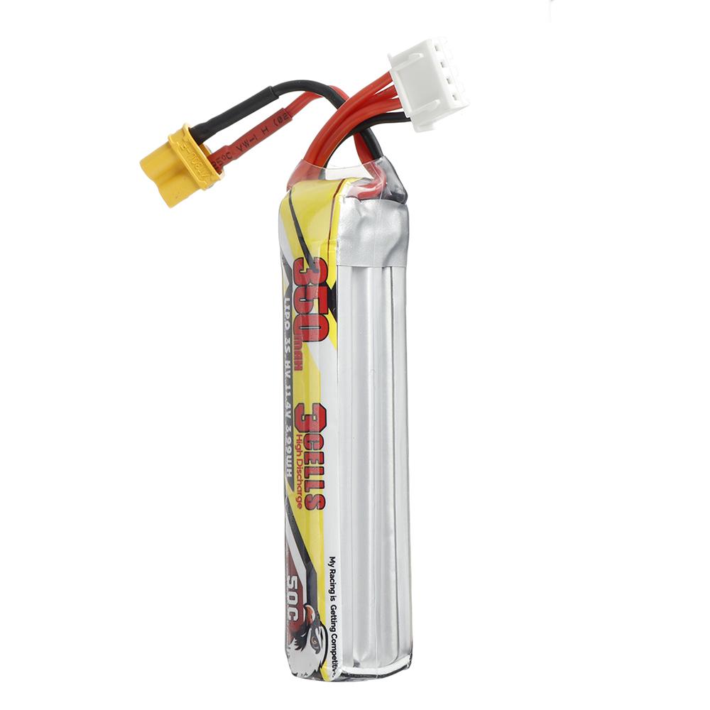 CODDAR 11.4V 350mAh 3S 50C HV Lipo Battery XT30 for Toothpick Whoop