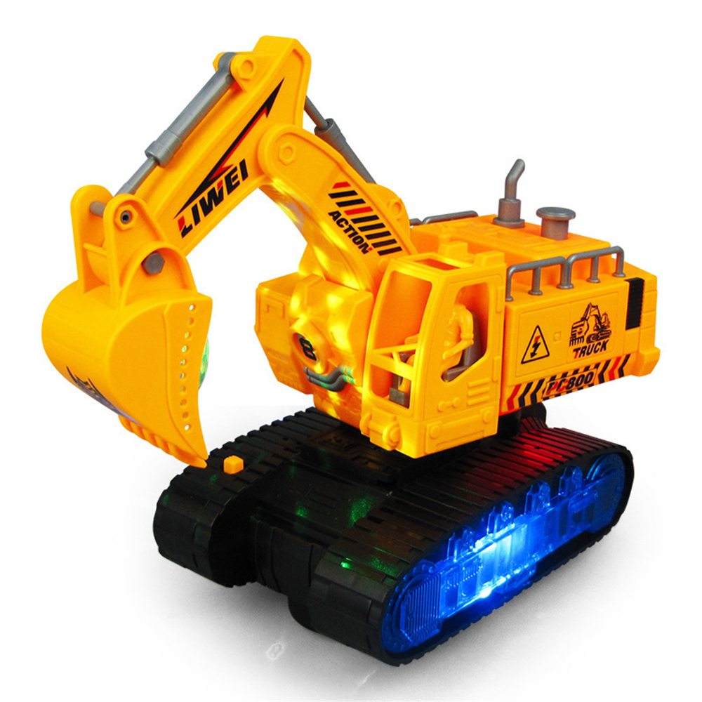 Children's Toy Car Light Music Electric Deformation Excavator Educational Puzzle Toy Creative Gifts for Children