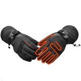 WARMSPACE Men Women Rechargeable Electric Warm Heated Gloves Battery Powered Gloves Winter Sport Heat Gloves for Climbing Ski