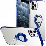 Bakeey for iPhone 12 Pro / 12 Case Plating Transparent with Ring Holder Shockproof Soft TPU Protective Case Back Cover