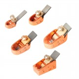 Naomi 5 pcs Rose Gold Color Violin Makers Plane Cutter Brass Luthier Tool Violin Making Tools Mini Brass Planes Woodworking Planes