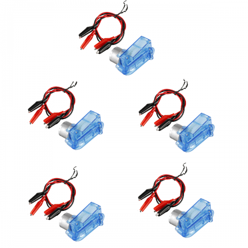 5Set Mini Emergency Hand-cranked Dynamotor Charger Portable Hand-cranked Generator 3V 5V for Diy Electronic Production with Clip Lines