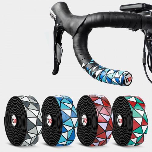 WEST BIKING 2 Pcs Bike Handlebar Tapes PU Anti-slip Waterproof Handlebar Grip Wraps Adhesive Strap For Cycling Bicycle Mountain Bike