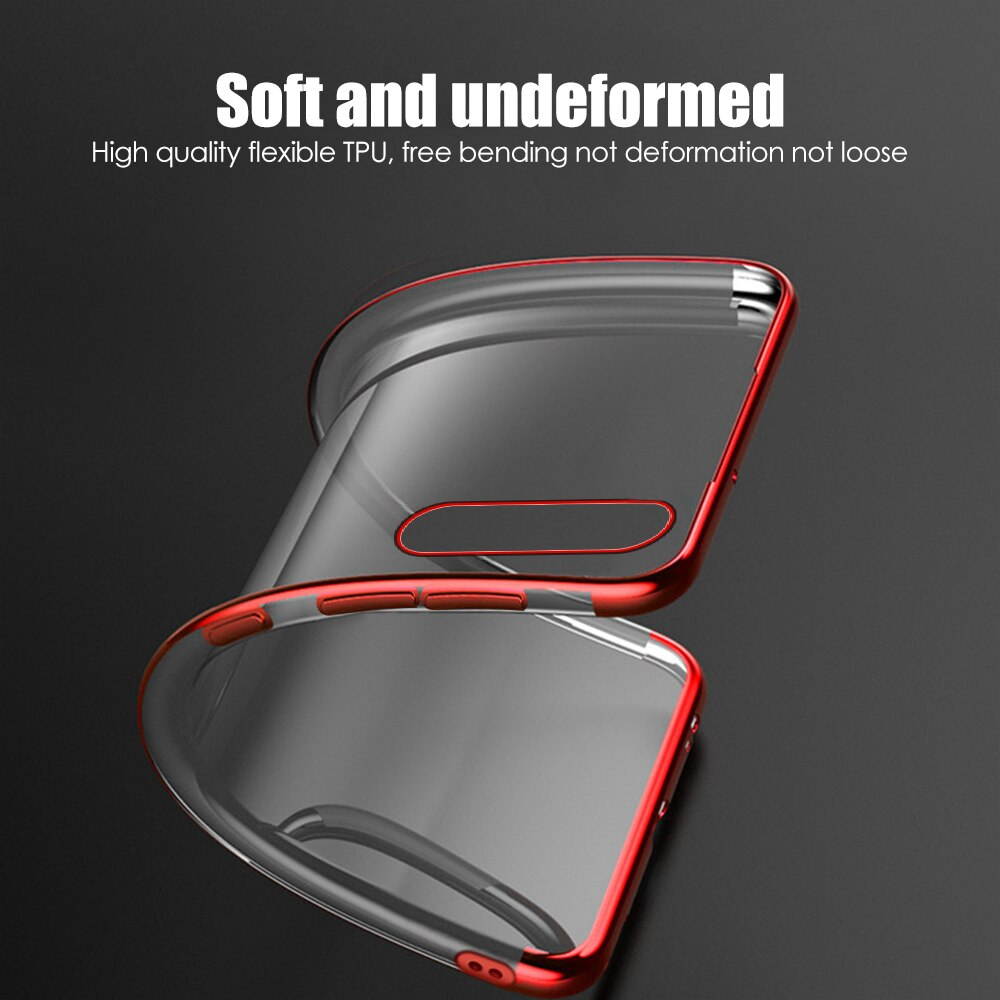 Bakeey Plating Ultra-thin Transparent Shockproof Soft TPU Protective Case Back Cover for Xiaomi Mi10 Mi 10