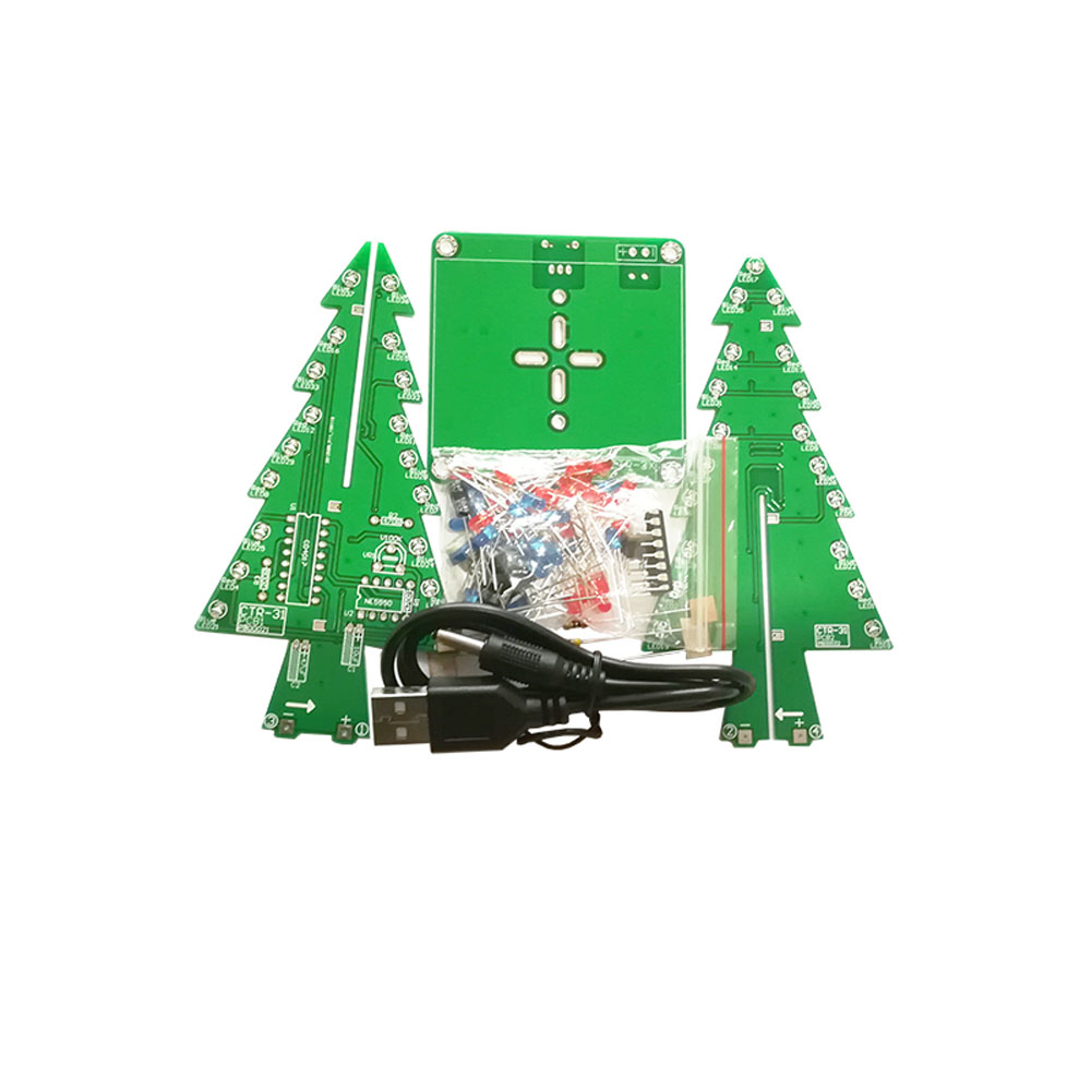 CTR-30 Three-dimensional Flashing Christmas Tree DIY Kit Electronic Small Production Desktop Decoration Kit