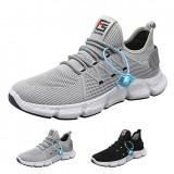 TENGOO Men Breathable Sneakers Non-slip Running Shoes Male Air Mesh Lace Up Wear-resistant Casual Shoes