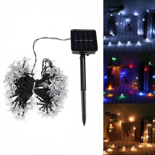 12M 100LED Solar Power Flower Lamp LED String Fairy Lights Waterproof LED Flower Light String Solar Garlands Garden Christmas Decor For Outdoor