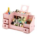 Cosmetics Storage Box Desktop Makeup Box Table Organiser Holder Box Drawer Type Multilayer Division with Mirror Display Box