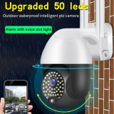 Bakeey 50 LED HD IP Camera Wireless WIFI Intelligent PTZ Camera Voice Intercom Outdoor Waterproof Alarm with Voice Light Surveillance