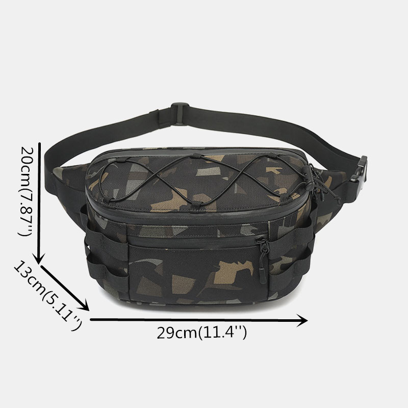 Men Oxford Multi-carry Anti-theft Multi-pocket Waterproof Casual Crossbody Bag Chest Bag Sling Bag