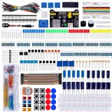 Electronic Component Super Kit with Resistor Transistor RGB Capacitor LED Buzzer Switch Potentiometer for Arduino