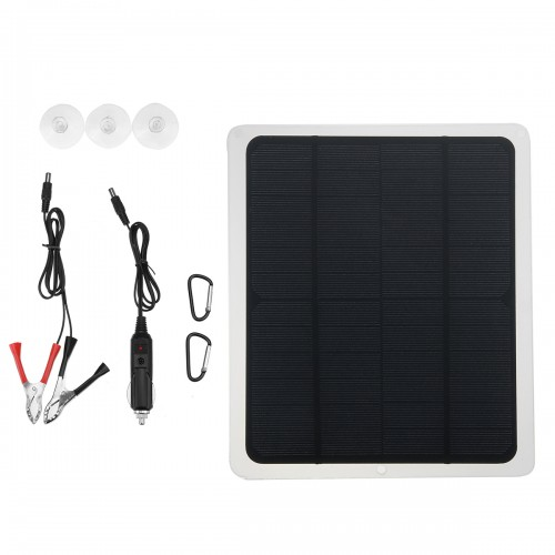 18V Solar Panel Car Battery Maintainer Charger for Vehicle Boat Motorcycle