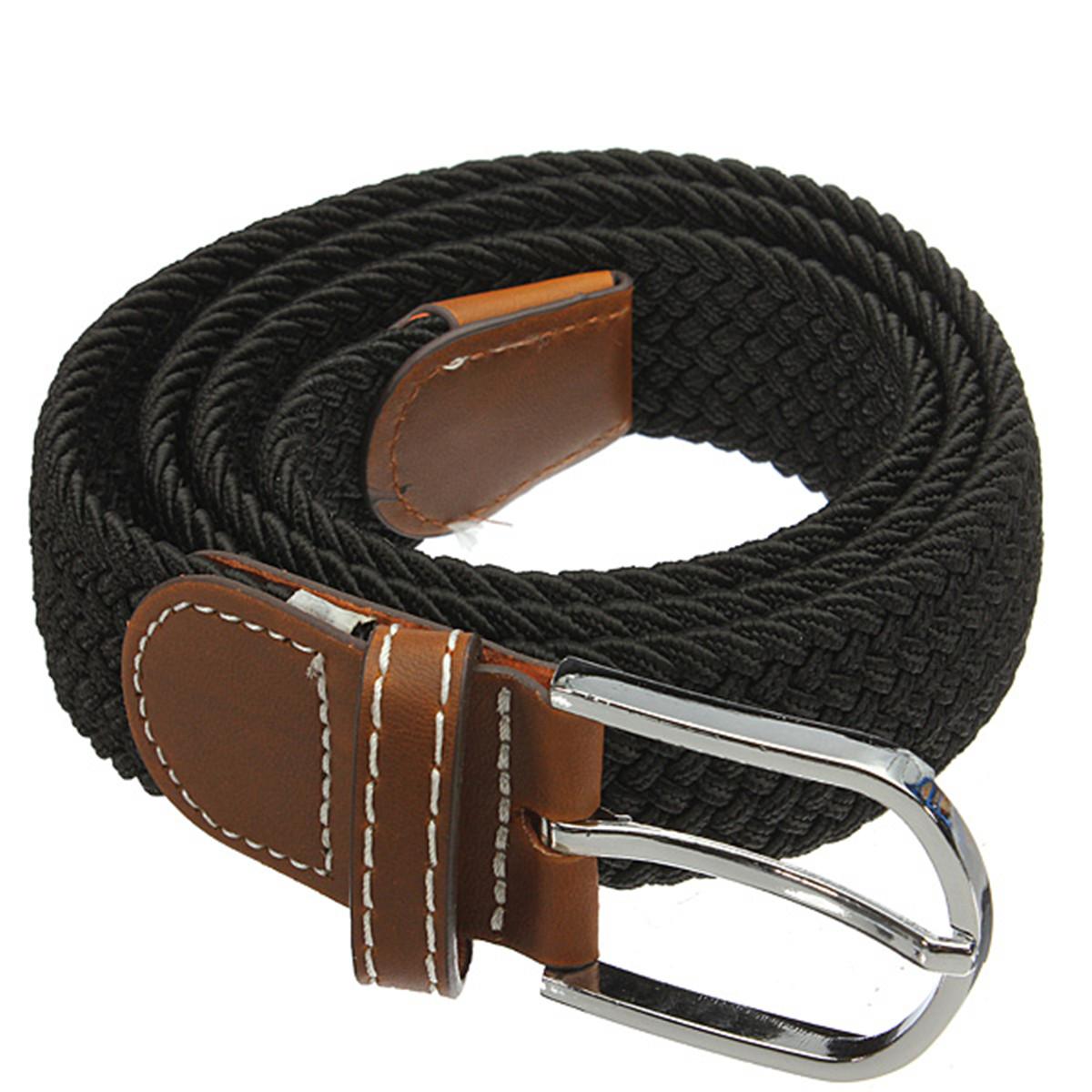 115cm Canvas Elastic Stretch Tactical Belt Men Women Pin Buckle Waist Belt Hunting Fishing