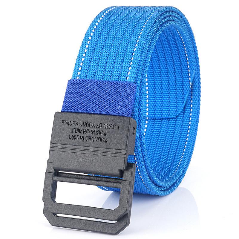 AWMN Nylon 125cm Tactical Belt Double Ring Heavy-Duty Quick-Release Metal Buckle Belt